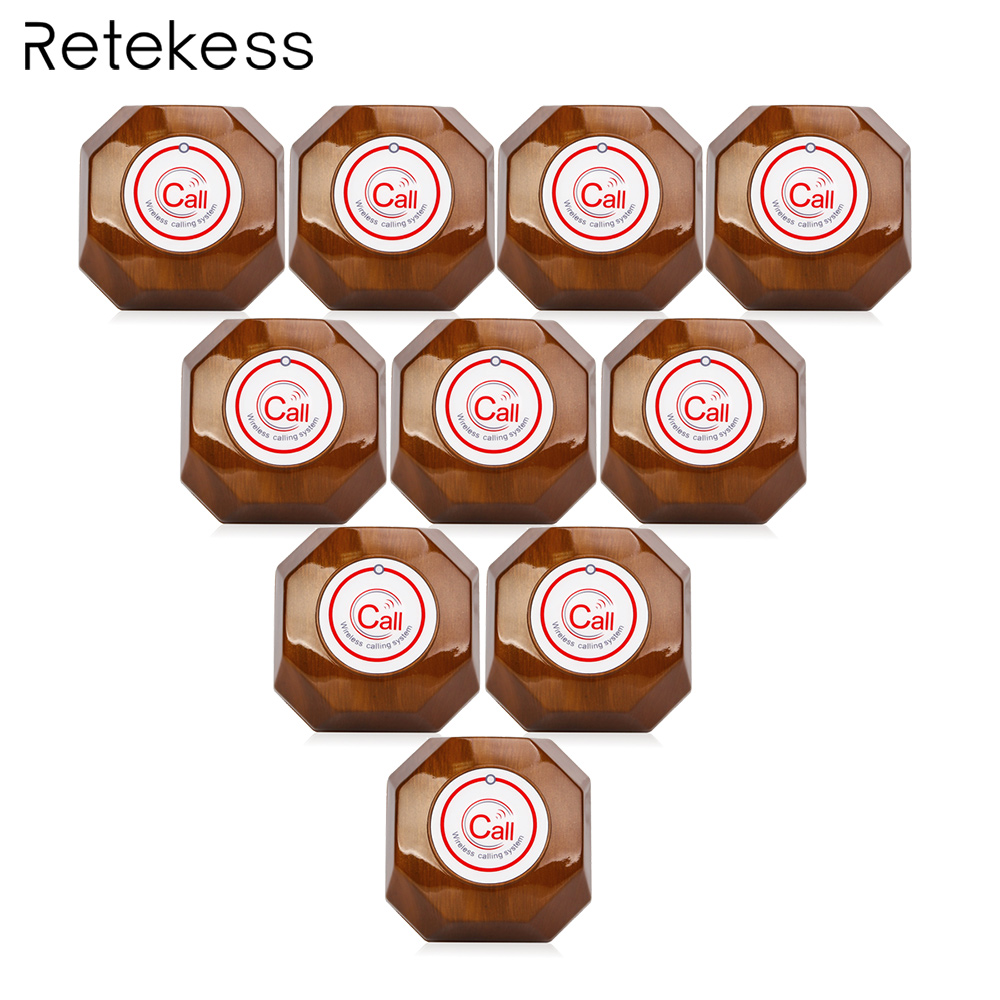10pcs 433MHz Call Button Transmitter for Wireless Waiter Calling System Restaurant Equipment F9426A