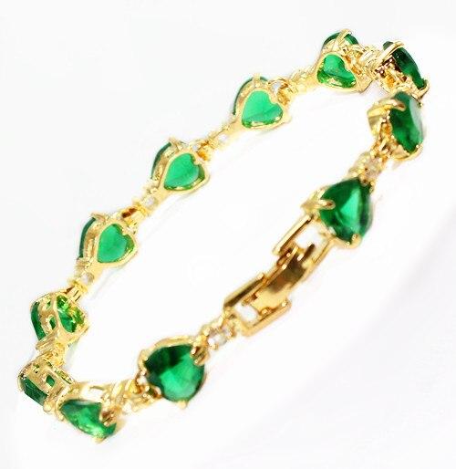 fast shipping Fine Jewelry 8MM Heart shaped new Crystal Bracelet