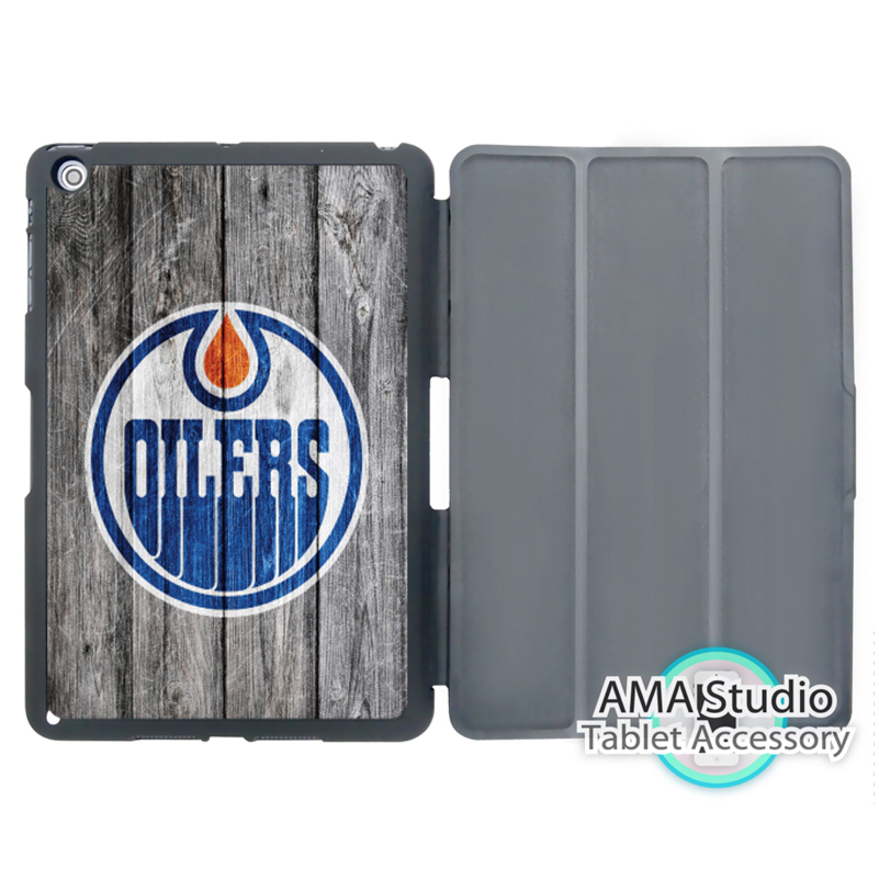 Edmonton Oilers Ice Hockey NHL Smart Cover Case For Apple iPad Mini 1 2 3 4 Air Pro 9.7 худи print bar edmonton oilers