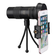 Buy New 10-30x Hunting Optics Telephoto Telescope Monocular Camera Lens+ Cell Phone Clip +Tripod Stand for Outdoor Activities