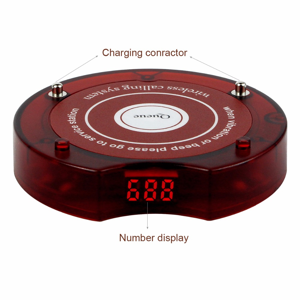 Image 5 - 10pcs Coaster Pager Guest Restaurant Vibration Buzzer Quiz Beeper 433.92MHz For 999 Channel Wireless Page Queue System Receiver-in Pagers from Computer & Office