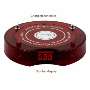 Image 4 - 10pcs Coaster Pager Guest Restaurant Vibration Buzzer Quiz Beeper 433.92MHz For 999 Channel Wireless Page Queue System Receiver