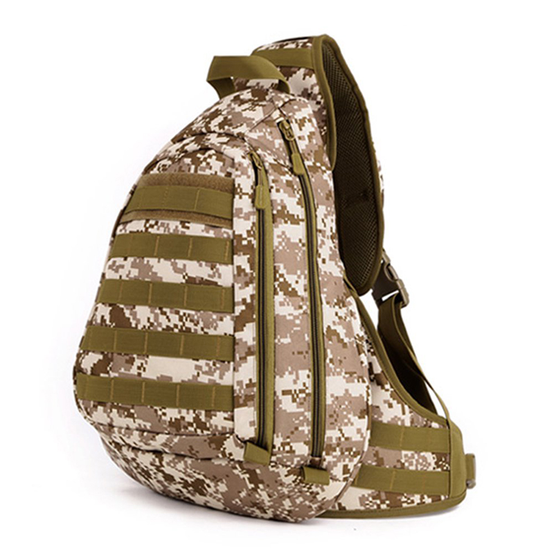 acu desert Camouflage Petto Grande Zaino Man brown Imbracatura Viaggio Tattico Outdoor Single Sacchetto One Shoulder Sport Campo Pack Da Black Di UB8HqrUn