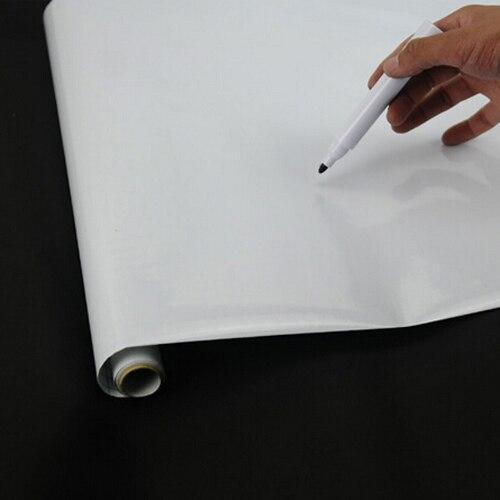 Lovely Peel and Stick Whiteboard PVC Wall Sticker Free Marker Pen 45cmx200cm
