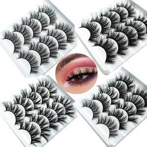 Image 1 - HBZGTLAD 1/5 pairs natural false eyelashes fake lashes long makeup 3d mink lashes eyelash extension mink eyelashes for beauty