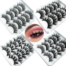 HBZGTLAD 1/5 pairs الطبيعية الرموش الصناعية رموش اصطناعية طويلة ماكياج ثلاثية الأبعاد المنك جلدة ملحق رمش العين الرموش للجمال