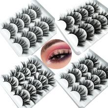 Hbzgtlad 1/5 pares naturais cílios postiços falsos longos maquiagem 3d vison cílios extensão cílios vison para a beleza