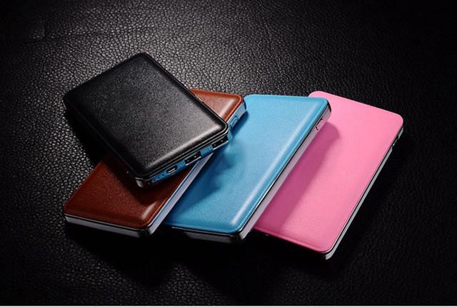 Dcae ultra-delgado banco de la energía 12000 mah dual usb batería de reserva externa portable powerbank cargador para xiaomi iphone 6 5