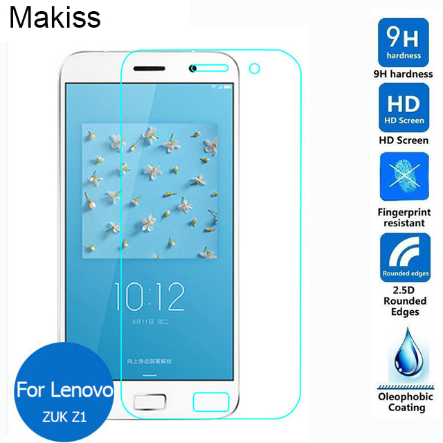 For Lenovo ZUK Z1 Dual Tempered glass Screen Protector 0.26mm 2.5 HD Clear Safety Protective Glass Film on Z 1 TD-LTE Dual SIM