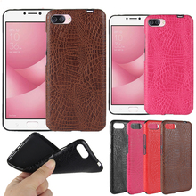 For Asus Zenfone 4 Max ZC554KL Case Crocodile pattern PU leather Case For ASUS ZC554KL fashion Phone Case Back Cover цена и фото