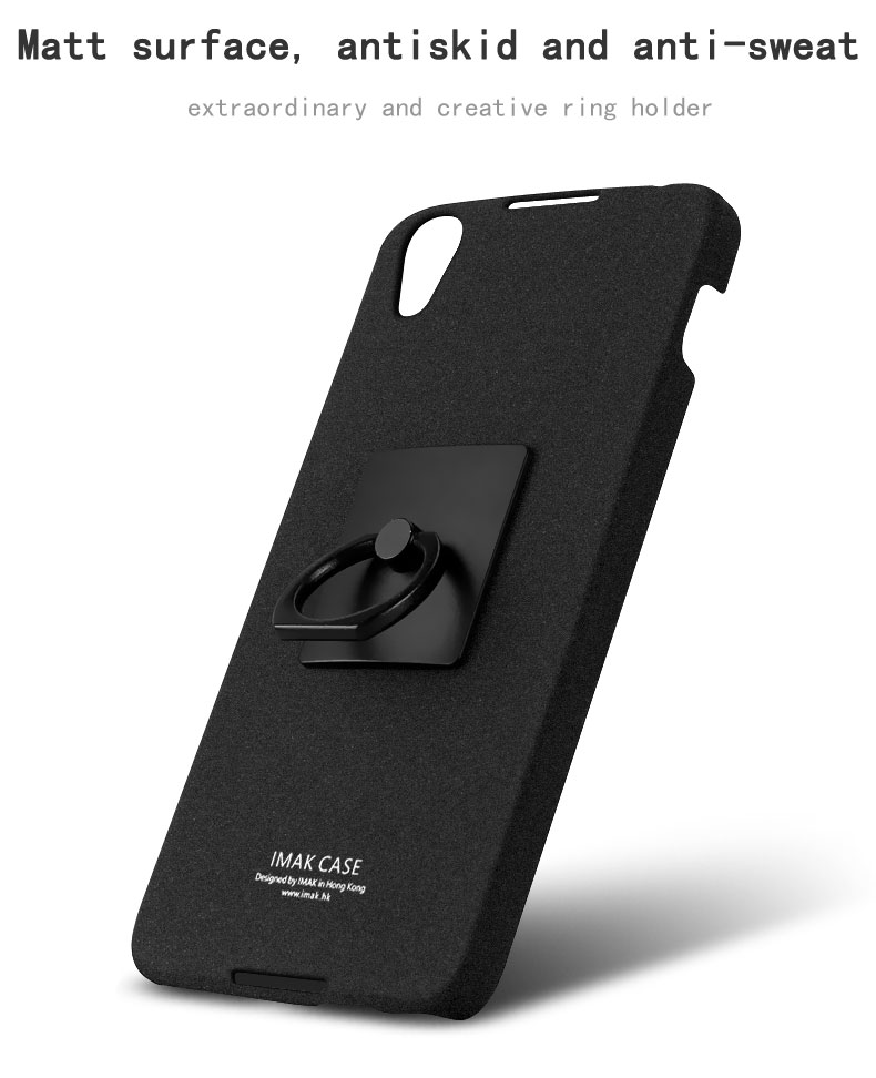 wholesale dealer de9b0 d7430 US $6.69 33% OFF|IMAK Contracted Frosted Cowboy Quicksand Back Cover Case  For BlackBerry Neon DTEK50 with Ring Holder Stand function -in Fitted Cases  ...
