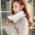 2016 New Fashion Autumn Winter Warm Women Scarf Snood Wool Blend Knit Neck Circle Cowl Snood Wrap Ring Scarves Shawl