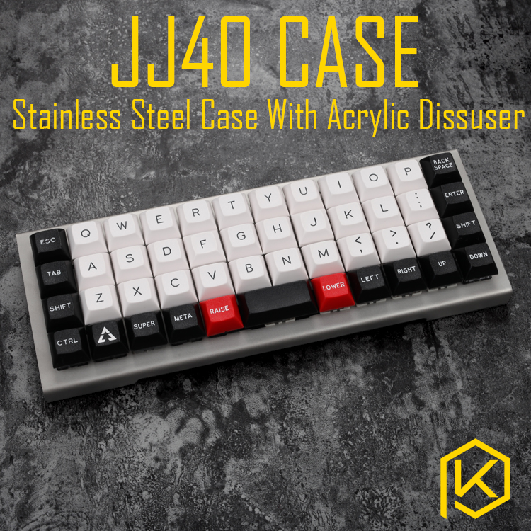 stainless steel bent case for jj40 JJ40 40 custom keyboard acrylic panels acrylic panel diffuser also