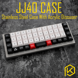 Image 1 - stainless steel bent case for jj40 JJ40 40% custom keyboard acrylic panels acrylic panel diffuser also can support planck