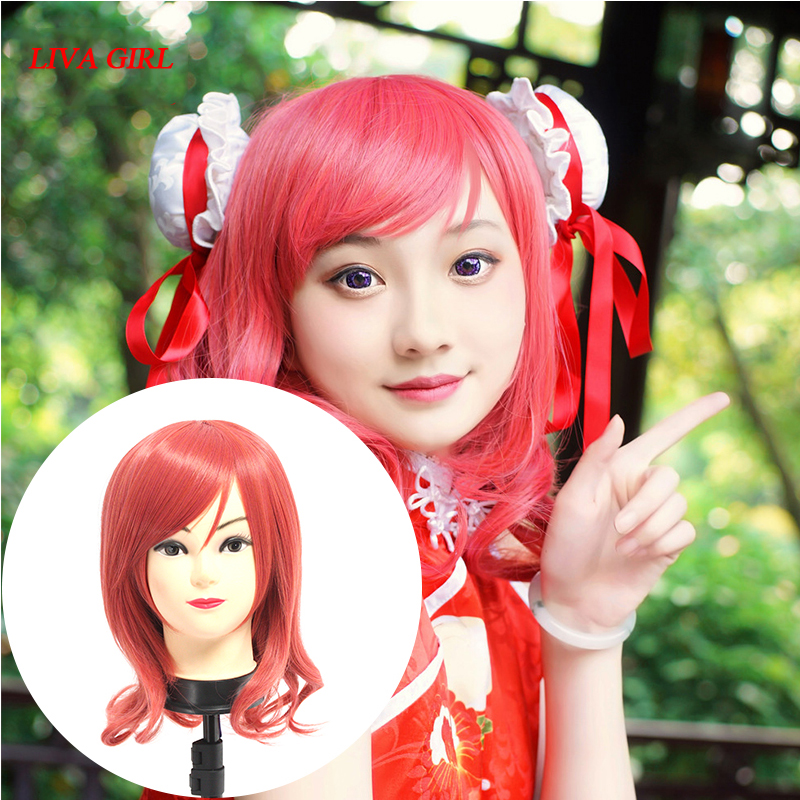 LoveLive! Love Live Cosplay Wig Maki Nishikino Costume Play Adult Wigs Halloween Anime Hair free shipping 1007