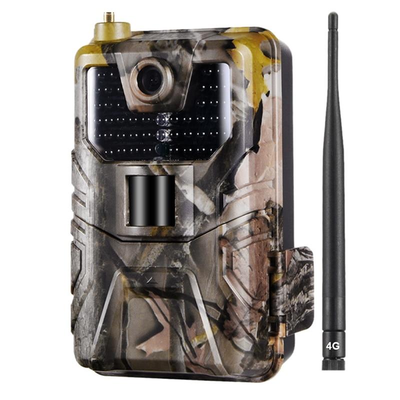 Hc-900Lte 4g caça câmera 16mp 940nm trail câmera mms/sms/smtp/ftp ip65 selvagem câmera 44 led