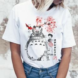 5fe408045 totoro t shirt women top tee shirts t-shirt tshirt korean style kawaii 90s  Graphic