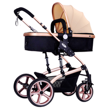 High landscape baby stroller can sit baby stroller BB baby stroller portable folding shock proof child trolley