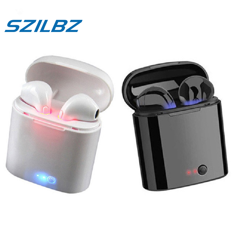 SZILBZ I7s <font><b>Tws</b></font> <font><b>Wireless</b></font> <font><b>Earbuds</b></font> True <font><b>Wireless</b></font> Sterio <font><b>Bluetooth</b></font> <font><b>5.0</b></font> <font><b>TWS</b></font> Earphone Pk I88 <font><b>Tws</b></font> <font><b>I10</b></font> <font><b>TWS</b></font> <font><b>i9</b></font> i11 With Charging Box image
