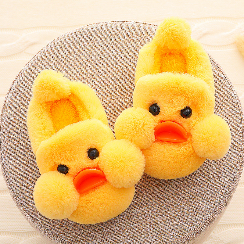 Chicken Slippers Kids Winter Fur Plush Slippers Girls Boys Unicorn Shoes Infant Baby Slippers Warm Shoes Hotel Children Slippers