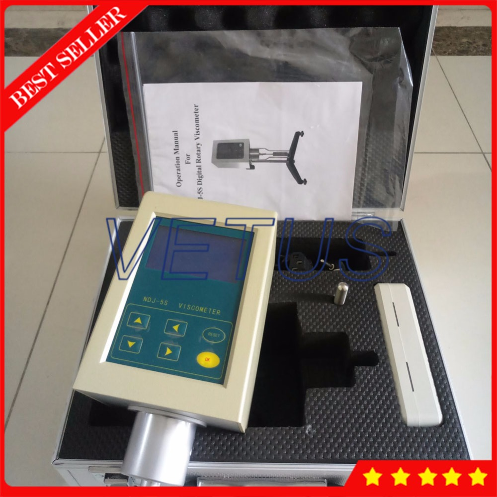 NDJ-5S digital Rotary viscometer Viscosity tester digital viscometer ndj 1 viscometer paint viscosity tester rotary viscometer pointer viscometer
