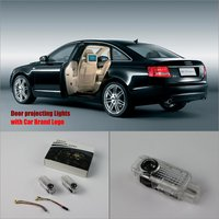 For Audi A6L (2.5/3.0) 2012~2014 Door Ghost Shadow Lights Car Brand Logo LED Projector Welcome Light Courtesy Doors Lamp
