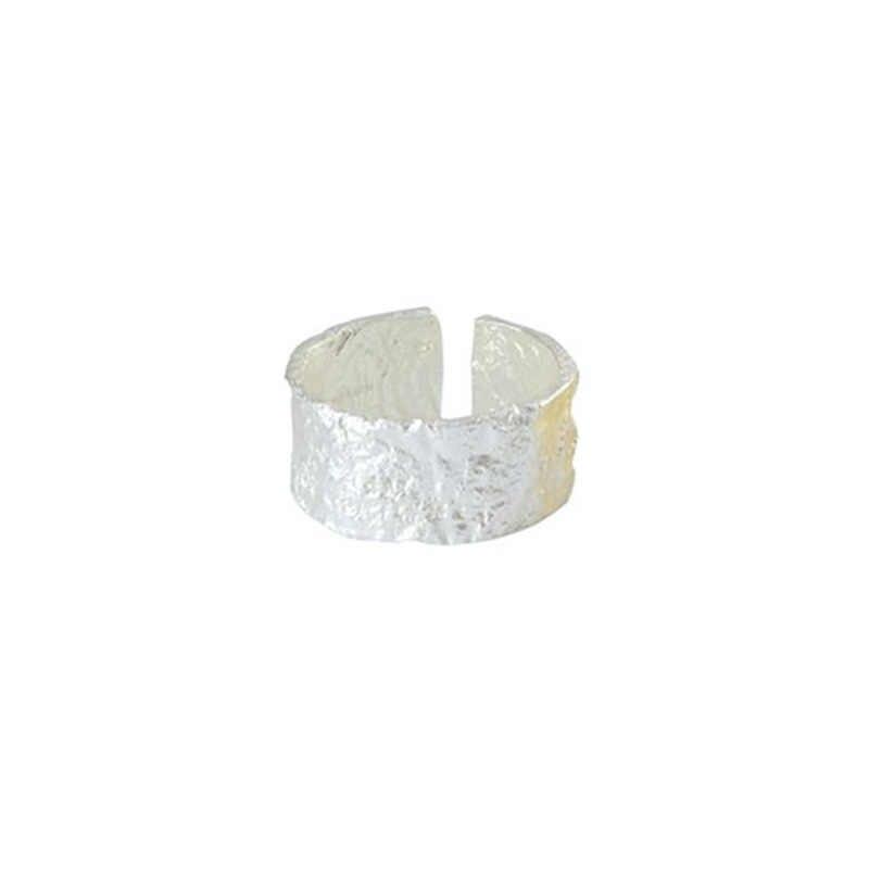 สไตล์เกาหลี 925 เงินสเตอร์ลิงแหวนขนาดใหญ่สำหรับเครื่องประดับหมั้นผู้หญิงบุคลิกภาพหญิงเปิดโบราณแหวน
