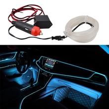 Universal 2M 12V Ice Blue LED Car Auto Interior Decorative Atmosphere Wire Strip Lamp