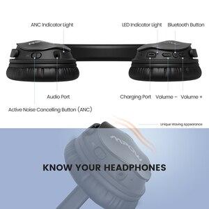Image 5 - 2 Gen 2nd Mpow H5 إلغاء الضوضاء بلوتوث سماعة رأس بمايكروفون الإفراط في الأذن سماعات رأس لاسلكية ل HiFi ستيريو و 18hours بلاي تايم