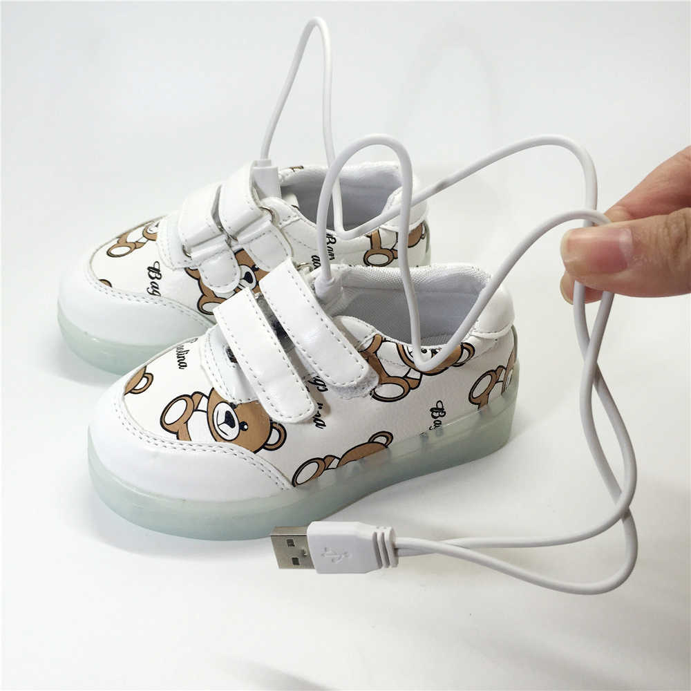6317be7f ... Светящиеся кроссовки мигающие usb зарядка маленькие дети обувь с  подсветкой СВЕТОДИОДНЫЕ светящиеся кроссовки для мальчиков и ...