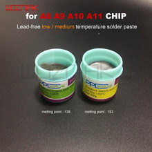 PPD Beste Schmelzpunkt 138 / 183 grad Blei freies niedrigen temperatur lotpaste für IPHONE A8 A9 A10 a11 CHIP Speziellen zinn zellstoff