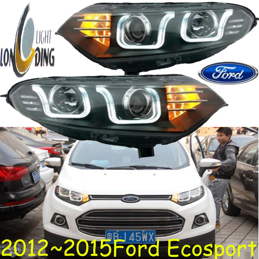 Ecosport headlight,2012~2016,Free ship!Ecosport fog light,kuga,Bronco,c-max,aspire,Escape,explorer,Edge; Ecosport led 2012 2015 kuga day light kuga fog light kuga headlight transit explorer topaz edge taurus fusion kuga taillight