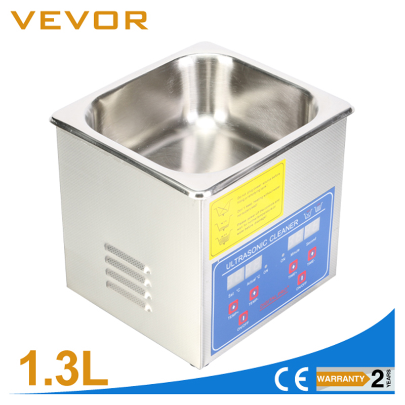 Professional Stainless Steel 1.3 L Ultrasonic Cleaner Heater Timer Bracket Jewelry