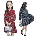 Child Floral Dresses for Girls Casual Dress Kids Formal Clothes Children Vestidos Infant V-neck Dress 2 8 10 12 Baby Petal Dress