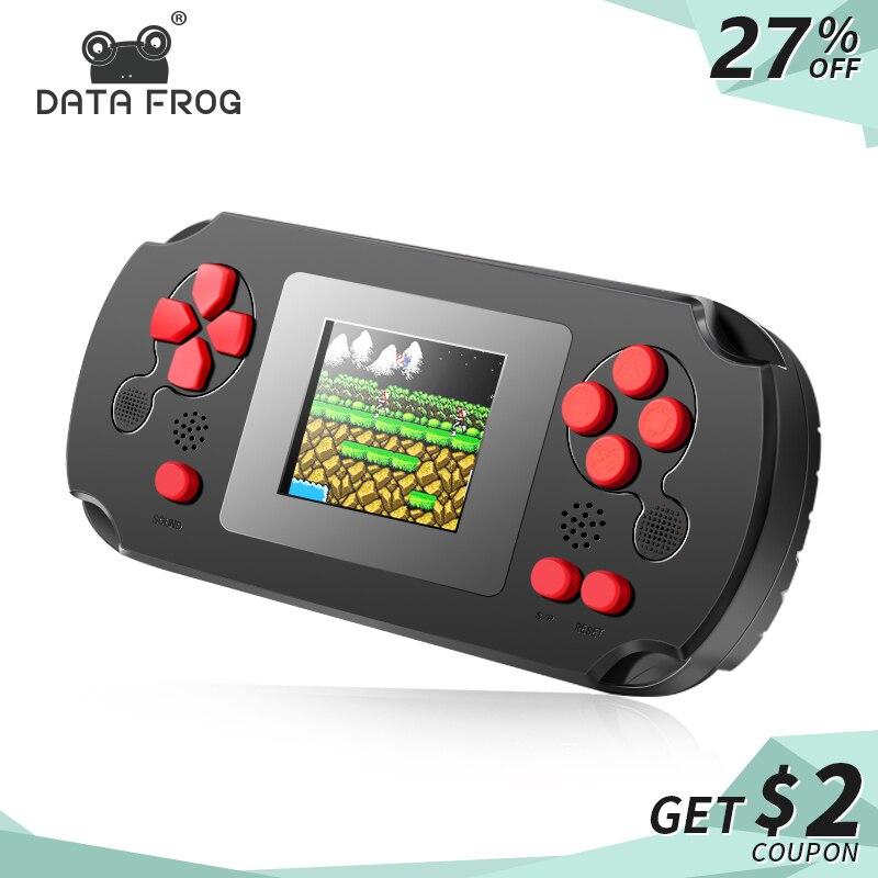 Dados Sapo Retro 8 BIT Handheld Game Console Portátil Do Jogo Retro Bolso Clássico Brinquedos Jogador Construído Em 268 Jogos Clássicos