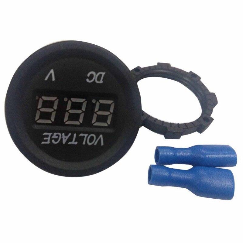 Digital Voltmeter 12 V-24 V DC LED Digital Display Auto Car Motorcycle Voltimetro Volt Meter Gauge Socket