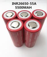 4pcs Dolidada 26650 battery 5500mah Battery 26650 Li ion 3.7v Rechargeable Battery for Flashlight Electric tool 20A 26650Battery