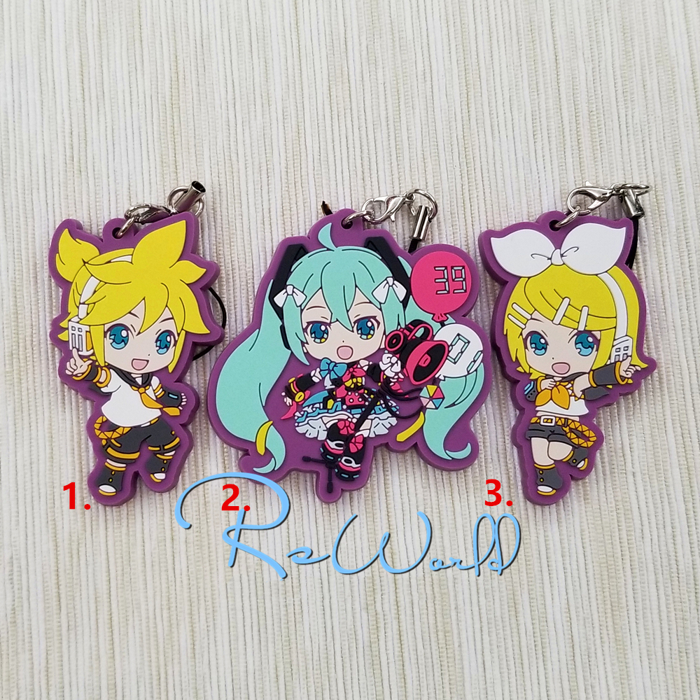 цена на VOCALOID 2 Game Hatsune Miku Happy Birthday 2018 Kagamine Rin Len Rubber Strap Keychain