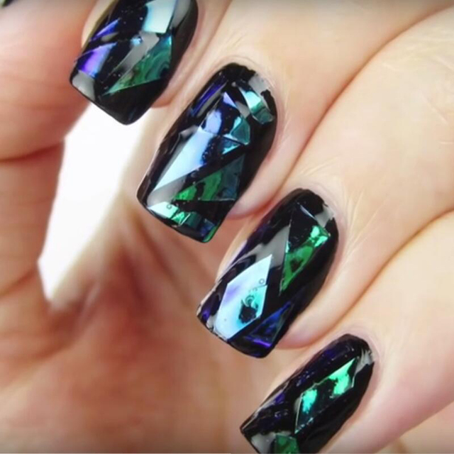 New100cm5cm shattered glass nails diy nail foil transfer sticker new100cm5cm shattered glass nails diy nail foil transfer sticker rainbow effect background 18colors broken prinsesfo Gallery