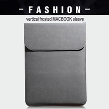 PU Leather Sleeve/Bag For Macbook Air Retina 11 12 15.4 New Pro 13 15 Touch Bar Notebook Case For Xiaomi 13.3 15.6 Scrub