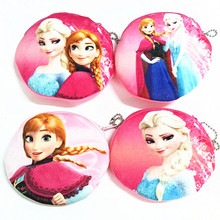 M417 The New Digital Printing Frozen Aisha Anna Plush Cartoon Creative Coin Bag Purse Cloth Girl Women Student Gift Wholesale