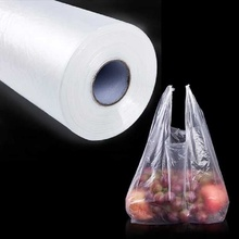 Transparent vest can be reused shopping mall bag supermarket portable fresh food packaging LINTINGHAN