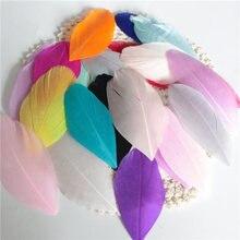 Натуральные перья, цветные, 4-8 см, лебедь, перья, для рукоделия, свадьбы, украшения дома, серьги, ювелирные аксессуары, 50 шт