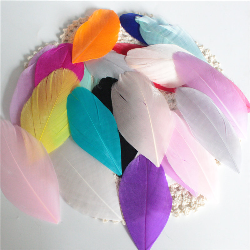 50pcs Natural Pheasant Feather for DIY Necklace Earrings Hair Jewelry 4-8cm