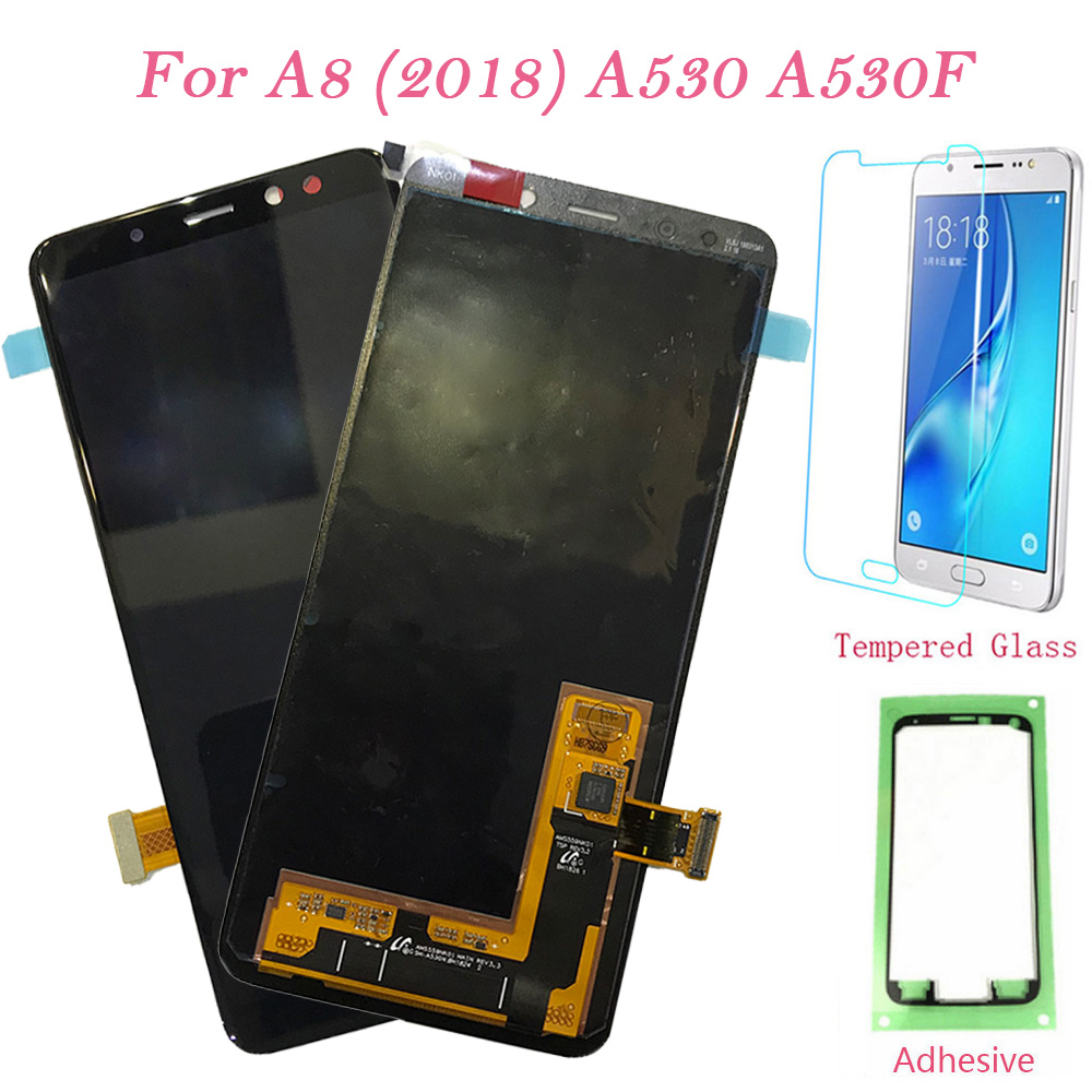 LCD Screen For Samsung Galaxy A8 (2018) A530F Touch Screen Digitizer LCD Display Frame For Samsung Galaxy A530 A530F/DS OriginalLCD Screen For Samsung Galaxy A8 (2018) A530F Touch Screen Digitizer LCD Display Frame For Samsung Galaxy A530 A530F/DS Original