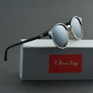 aa748c9c24e8 R.Bouia RAY Sunglasses Women Retro men Sun Glasses Frame