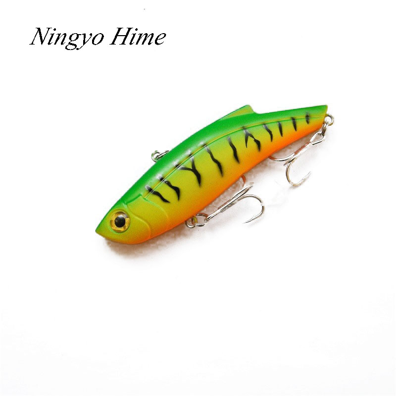 Brand New 1Pcs Winter Fishing Lures Hard Bait VIB With Lead Inside Lead Fish Ice Sea Fishing Tackle Swivel Jig Wobbler Lure Best new 12pcs 7 5cm 5 6g fishing lure minnow hard bait sea fishing tackle crankbait fishing kit jig wobbler lures bait with hooks