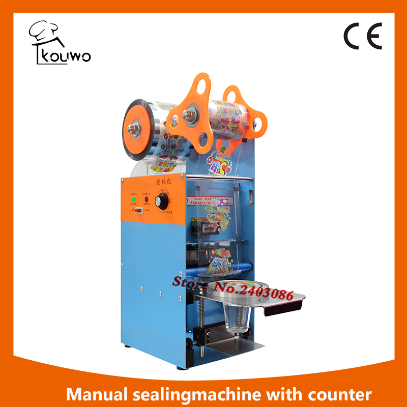 KW-D9 hand sealing package machine for plastic cup food sealer machine for sales free shipping guaranteed 220v electric standard cup dia 9 0 cm 9 5cm automatic plastic cup sealing machine for sale