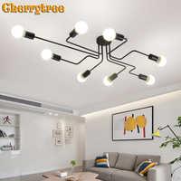 Luces de techo Vintage para sala de estar Vintage Industrial Loft lámparas de techo nórdicas para accesorios de iluminación del hogar comedor hierro