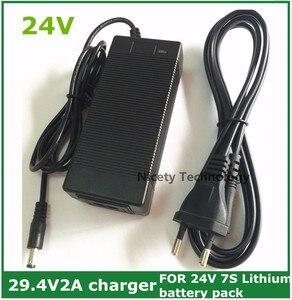 Image 1 - 24V Li Ion Lader Output 29.4V2A Voor 25.2V 25.9V 29.4V 7 Serie Li Ion Lithium Batterij 29.4V Oplader 24V E Bike Charger